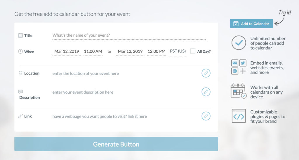 eventable free plug in