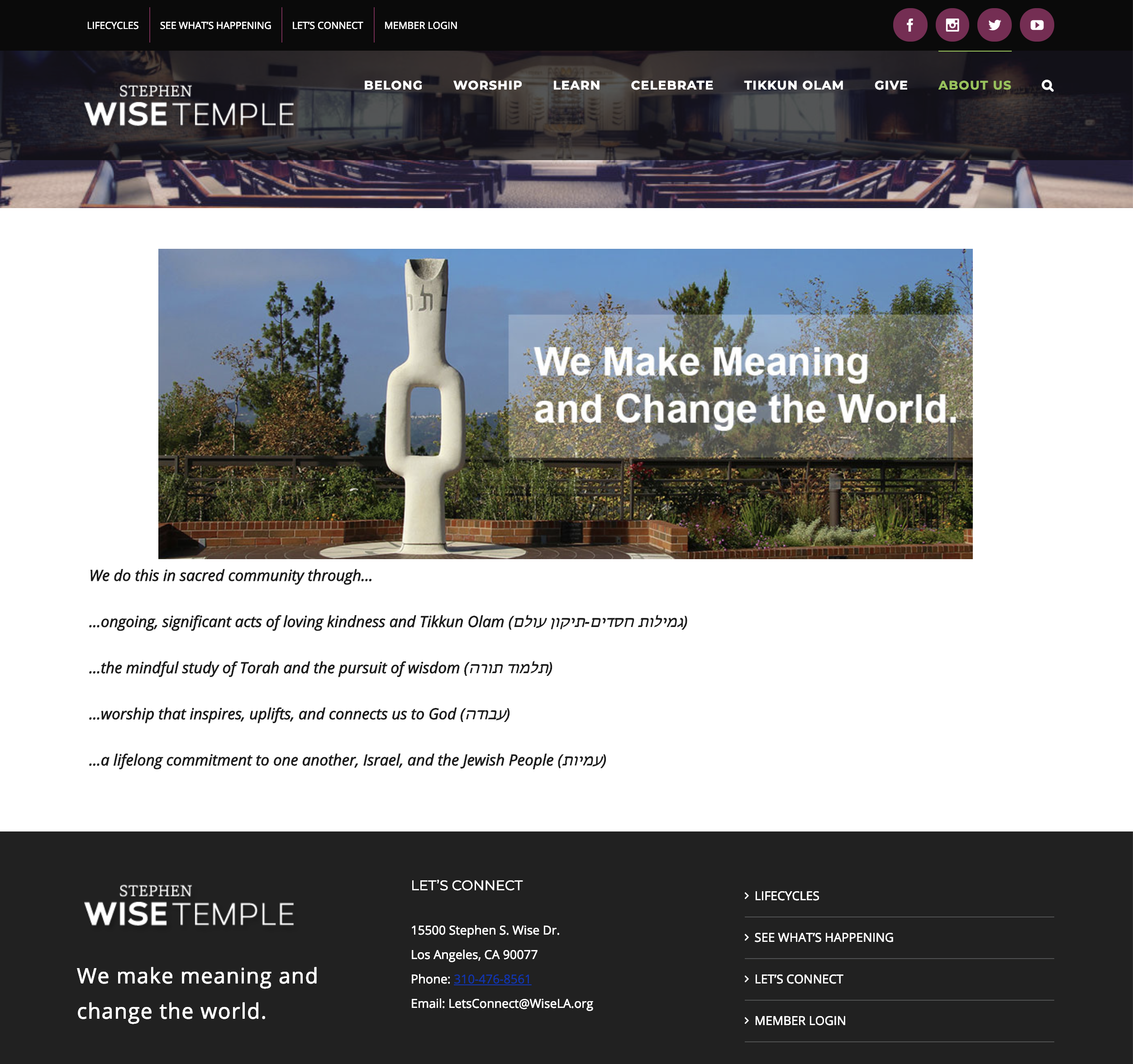 Stephen Wise New Website